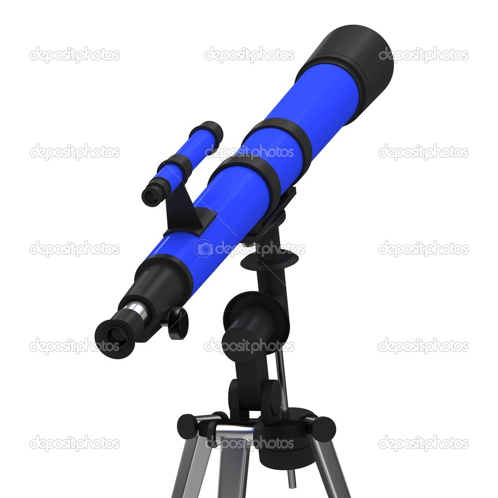 Blue Telescope on a white background. — Stock Photo #6756978