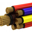 Copper electrical cable — Stock Photo