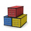 Stock Photo: Three cargo container