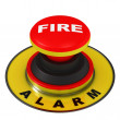 Stock Photo: Fire alarm button