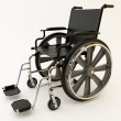 Black wheelchair — Stock Photo