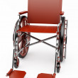 Stock Photo: Red wheelchair