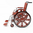 Red  wheelchair — Stock Photo