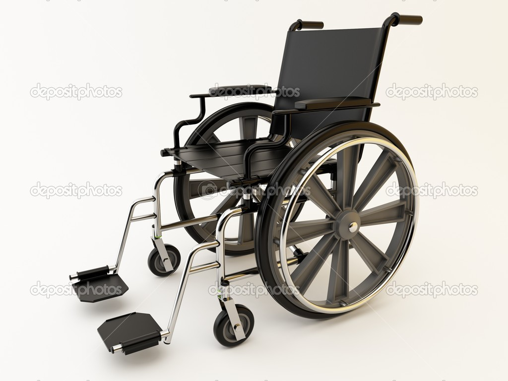 Black wheelchair on a light background. — Stock Photo #7650007