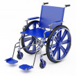 Blue wheelchair — Stock Photo
