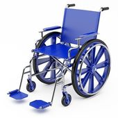 Blue wheelchair — Stock Photo