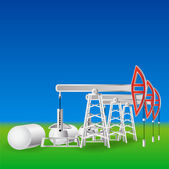 Oil pumps — Stock Vector