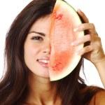 Eat watermelon — Stock Photo #6752915
