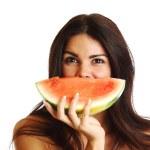 Eat watermelon — Stock Photo #6752917