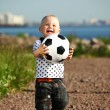Boy play soccer — Foto de Stock   #6752984