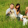 Royalty-Free Stock Photo: Friends and dog