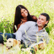 Lovers on grass field — Stock Photo #6753718