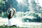 Lotus yoga — Stock Photo