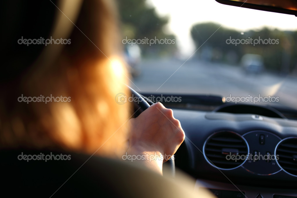 Car driver on fast speed — Stock Photo #6752738