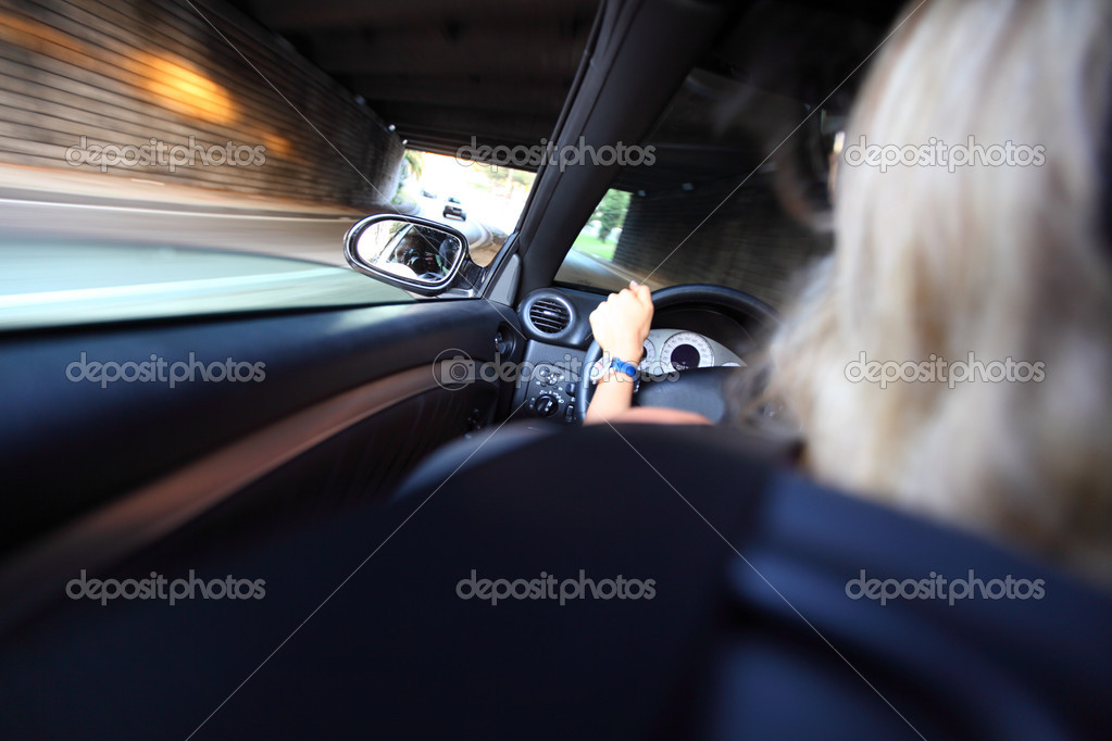 Car driver on fast speed  Stock Photo #6752739