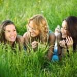 Women grass fun — Stock Photo #6848836