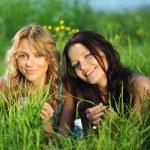 Women grass fun — Stock Photo #6848840
