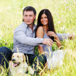 Lovers on grass field — Stock Photo #6849486