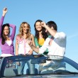 Friends in car — Stock Photo