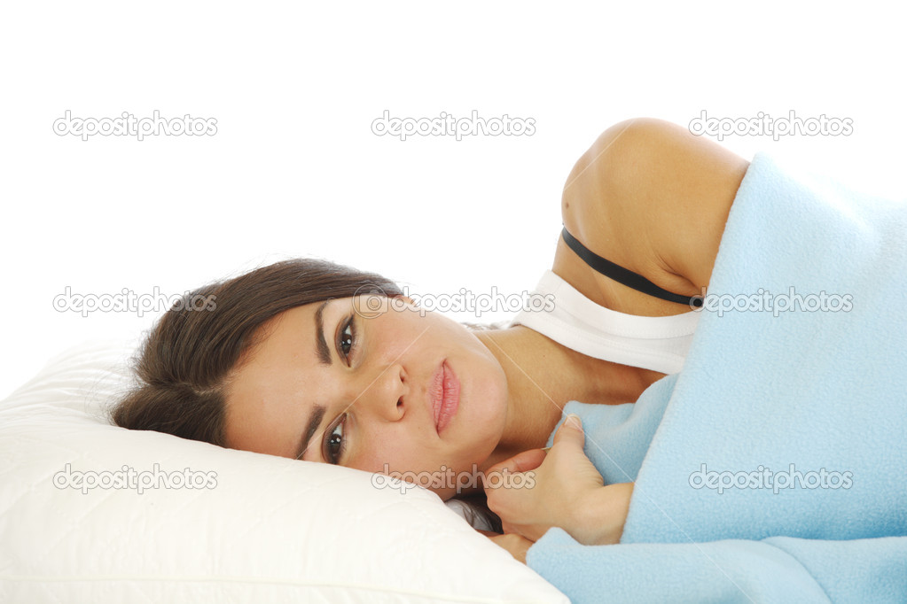 Beauty woman sleep on the pillow — Stock Photo #6850030