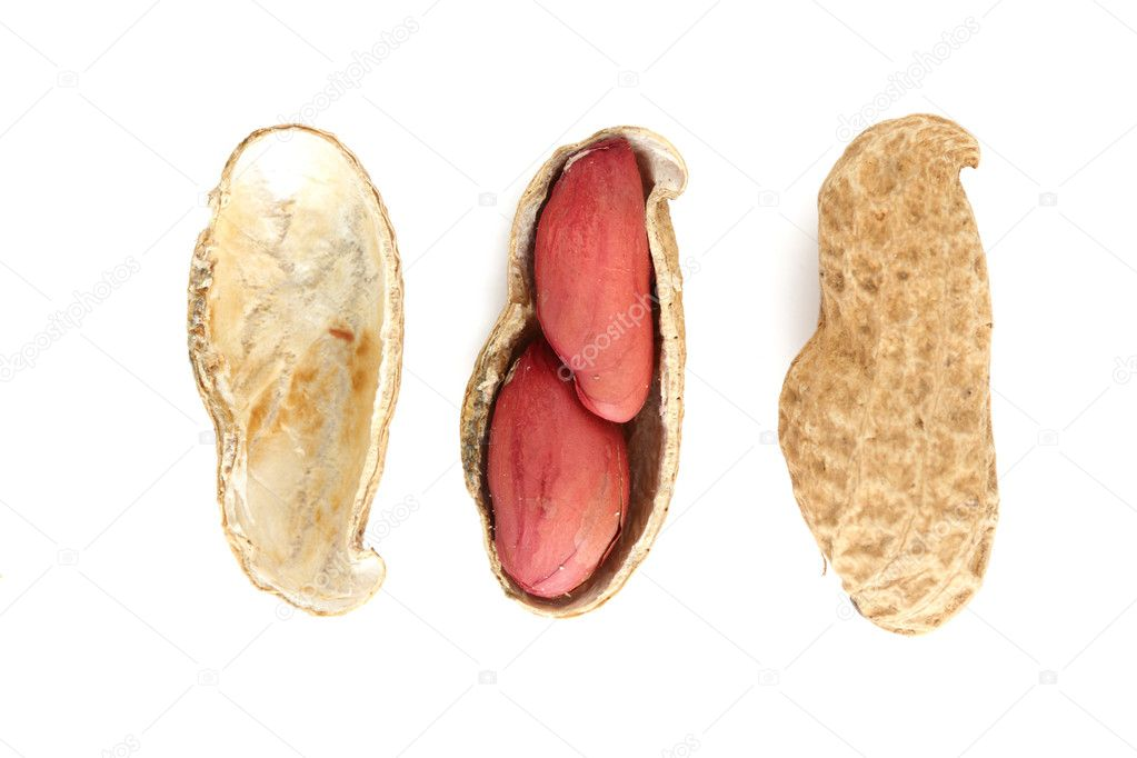 Peanut isolate on white close up — Stock Photo #6859676