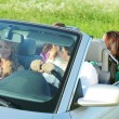 Friends trip in cabriolet — Stock Photo #6890475