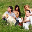 Friends and dog — Stock Photo #6891756