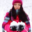 Winter women - Stockfoto