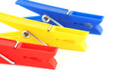 Colored clothespins — Stock Photo