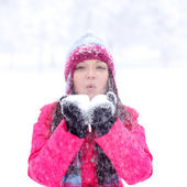 Winter girl — Stockfoto