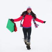 冬季购物 — 图库照片