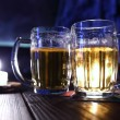 Beer in dark - Stock Photo
