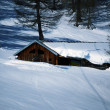 Chalet in mountains — Stock Photo
