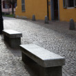 Stone benches - Stock Photo