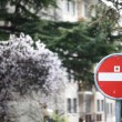 Foto Stock: Stop road sign