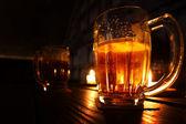 Beer in dark — Stock Photo