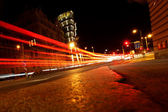Night city street — Stock Photo