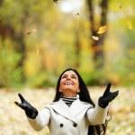 mulher de outono — Foto Stock