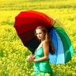 Woman under umbrella — Stock Photo #6933147