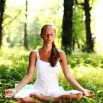 Lotus yoga sunrise — Stock Photo #6934481