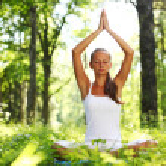 Lotus yoga sunrise — Stock Photo #6934482