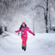 Woman in winter park — Stock Photo #6934565