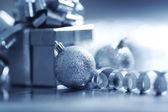 Modrý vánoční přání — Stock fotografie