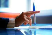 Pen work hand — Stock Photo