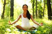 Lotus yoga gündoğumu — Stok fotoğraf