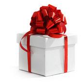 White christmas gift — Zdjęcie stockowe