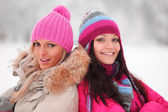 Winter frauen — Stockfoto