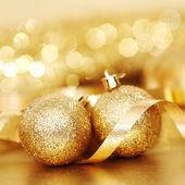 Natale dorato — Foto Stock