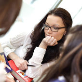 Girl on examinination — Stock Photo