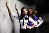 Underground girlfriends — Stock Photo